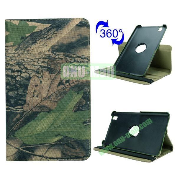 Retro Pattern Cloth Texture 360 Rotating Flip Leather Case for Samsung Galaxy Tab Pro 8.4 T320 with Belt (Treeblight)