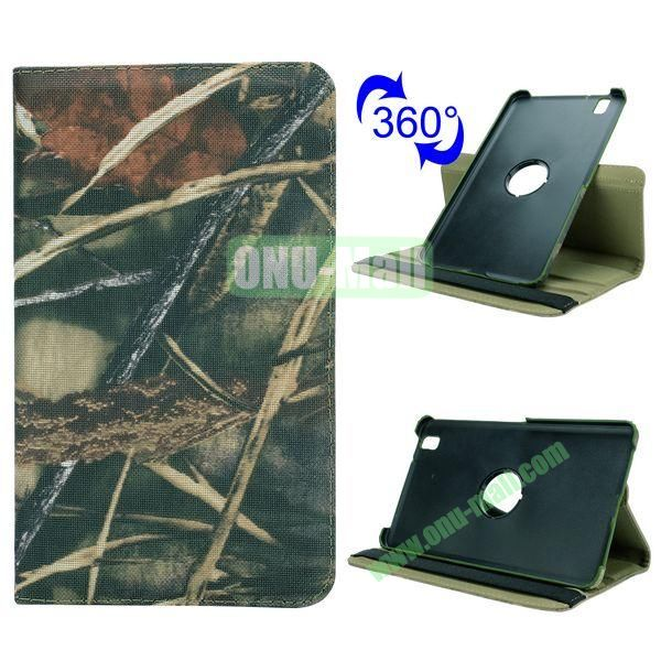 Retro Pattern Cloth Texture 360 Rotating Flip Leather Case for Samsung Galaxy Tab Pro 8.4 T320 with Belt (Withered Grass)
