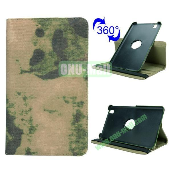 Retro Pattern Cloth Texture 360 Rotating Flip Leather Case for Samsung Galaxy Tab Pro 8.4 T320 with Belt (Special Image)