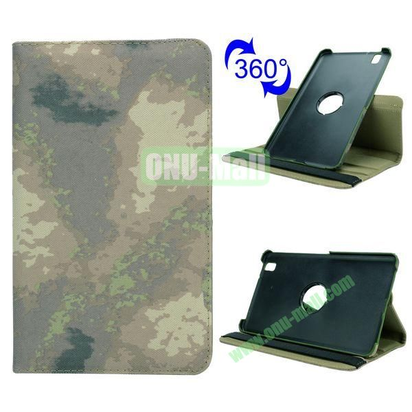 Retro Pattern Cloth Texture 360 Rotating Flip Leather Case for Samsung Galaxy Tab Pro 8.4 T320 with Belt (Grey Camouflage)