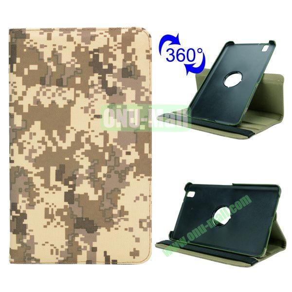 Retro Pattern Cloth Texture 360 Rotating Flip Leather Case for Samsung Galaxy Tab Pro 8.4 T320 with Belt (Mosaic Camouflage)