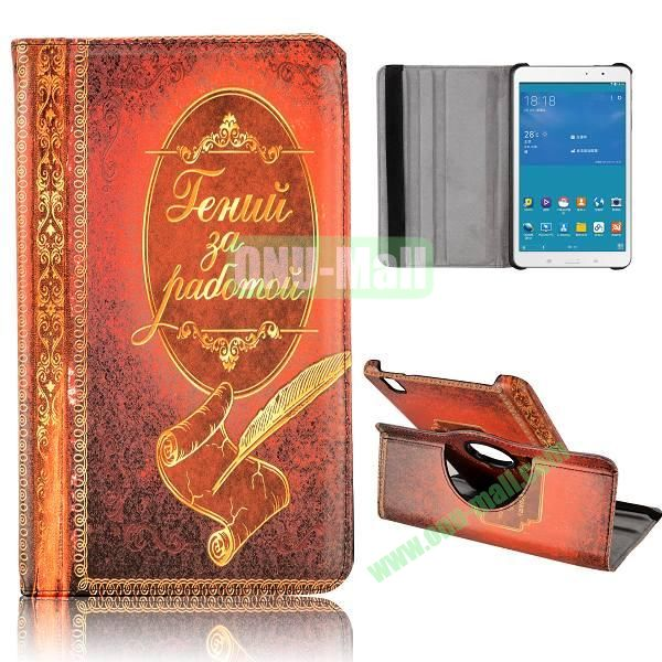 360 Degree Rotatable Leather Case for Samsung Galaxy Tab Pro 8.4 T320 (Notebook Pattern)