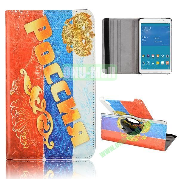 360 Degree Rotatable Leather Case for Samsung Galaxy Tab Pro 8.4 T320 (Emblem of Russia)