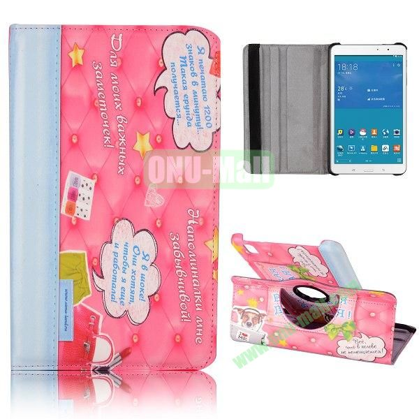 360 Degree Rotatable Leather Case for Samsung Galaxy Tab Pro 8.4 T320 (Pretty Cloud Pattern)