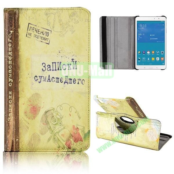 360 Degree Rotatable Leather Case for Samsung Galaxy Tab Pro 8.4 T320 (Fingerprint Pattern)