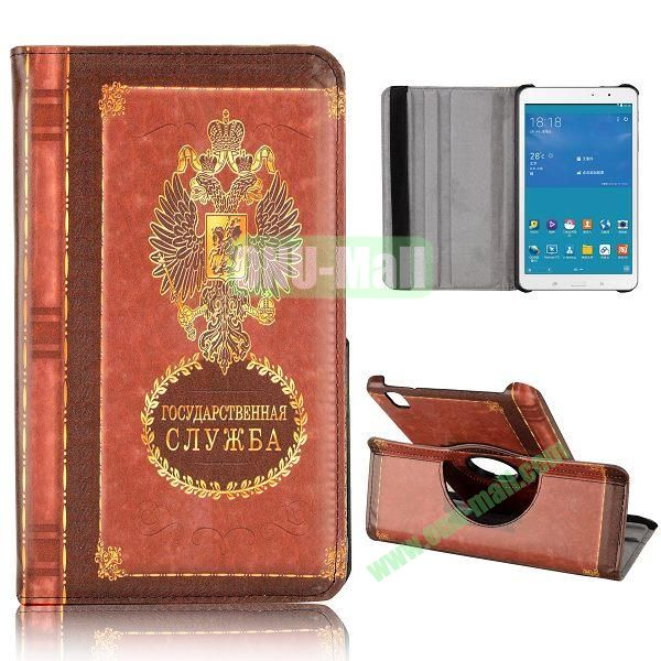 360 Degree Rotatable Leather Case for Samsung Galaxy Tab Pro 8.4 T320 (Russian coat of Arms Notebppk Pattern)