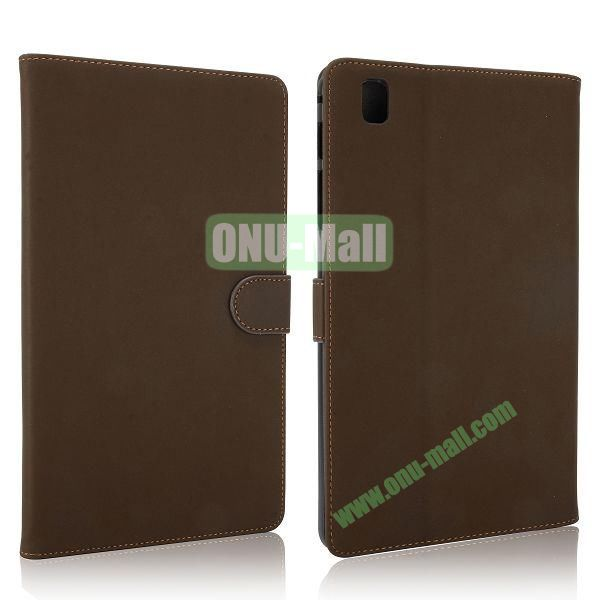 Vintage Style Leather Stand Flip Case with Magneticfor Samsung Galaxy Tab Pro 8.4  T320 (Brown)