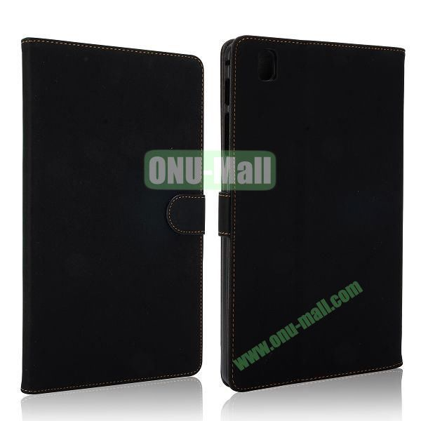 Vintage Style Leather Stand Flip Case with Magneticfor Samsung Galaxy Tab Pro 8.4  T320 (Black)