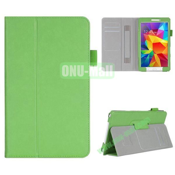 High Quality Flip Stand Leather Case for with Card Slots and Armband Belt for Samsung Galaxy Tab 4 8.0  T330 (Green)