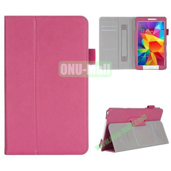 High Quality Flip Stand Leather Case for with Card Slots and Armband Belt for Samsung Galaxy Tab 4 8.0  T330 (Rose)
