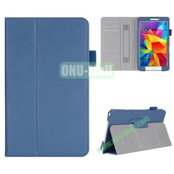 High Quality Flip Stand Leather Case for with Card Slots and Armband Belt for Samsung Galaxy Tab 4 8.0  T330 (Blue)