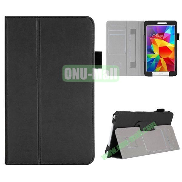 High Quality Flip Stand Leather Case for with Card Slots and Armband Belt for Samsung Galaxy Tab 4 8.0  T330 (Black)