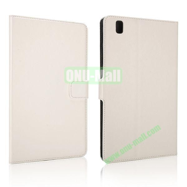 Crazy Horse Flip PC + Leather Case for Samsung Galaxy Tab Pro 8.4  T320 with Card Slots (White)