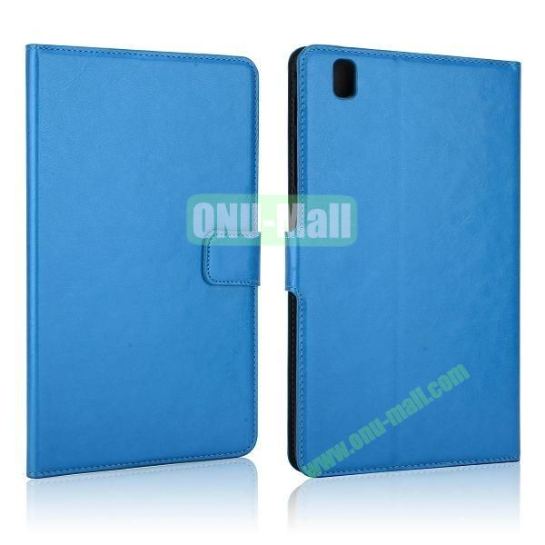 Crazy Horse Flip PC + Leather Case for Samsung Galaxy Tab Pro 8.4  T320 with Card Slots (Blue)
