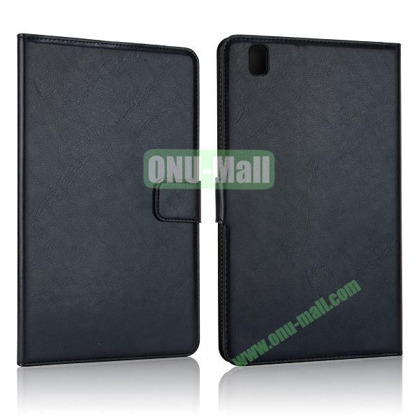 Crazy Horse Flip PC + Leather Case for Samsung Galaxy Tab Pro 8.4  T320 with Card Slots (Black)
