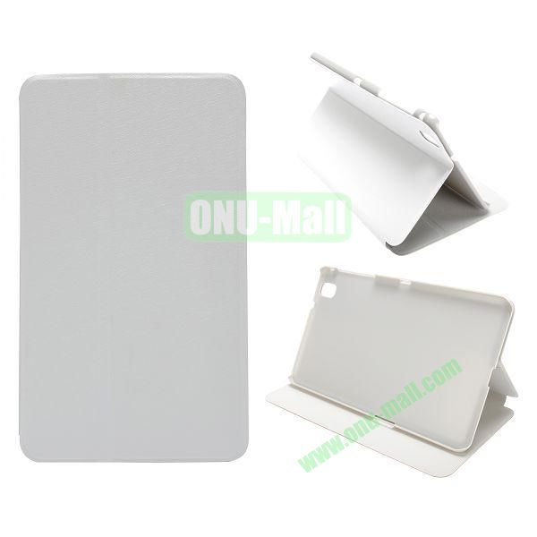 Silk Grain Flip Stand Leather Case for Samsung Galaxy Tab Pro 8.4  T320 (White)