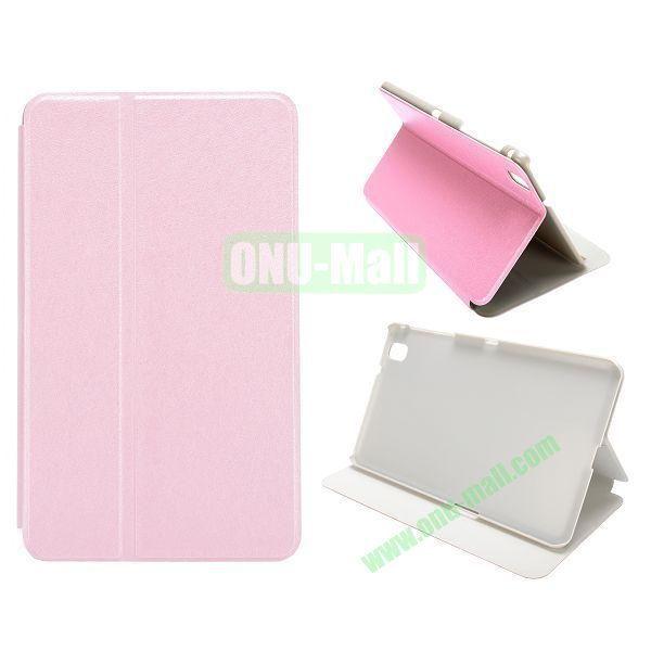 Silk Grain Flip Stand Leather Case for Samsung Galaxy Tab Pro 8.4  T320 (Pink)