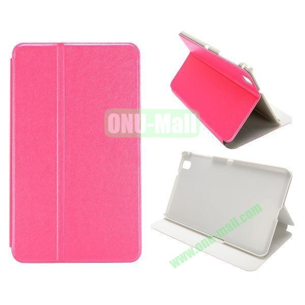 Silk Grain Flip Stand Leather Case for Samsung Galaxy Tab Pro 8.4  T320 (Rose)