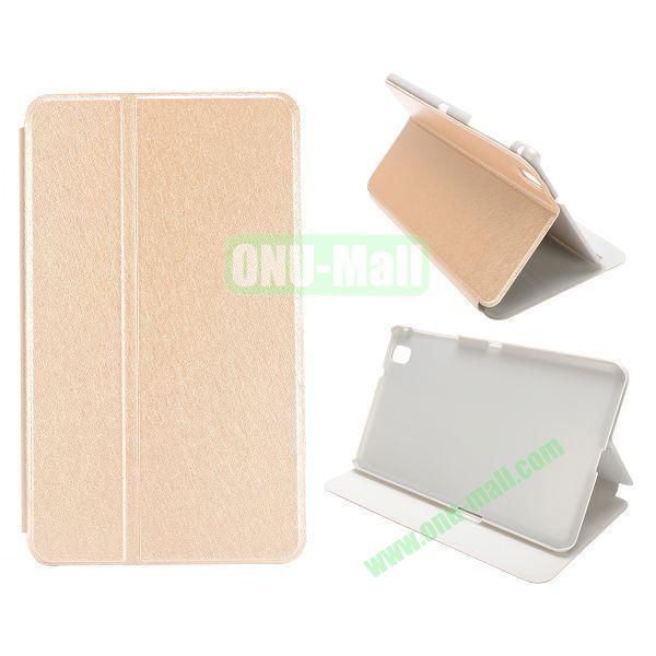 Silk Grain Flip Stand Leather Case for Samsung Galaxy Tab Pro 8.4  T320 (Champagne Gold)
