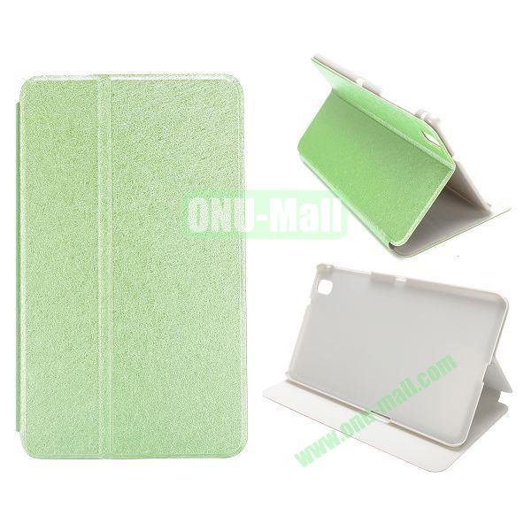 Silk Grain Flip Stand Leather Case for Samsung Galaxy Tab Pro 8.4  T320 (Green)
