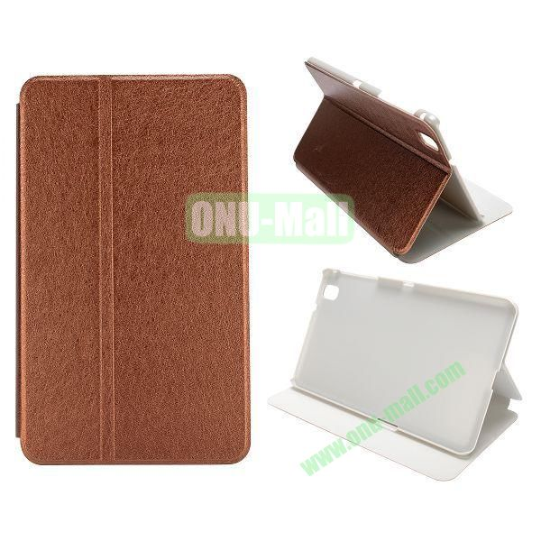 Silk Grain Flip Stand Leather Case for Samsung Galaxy Tab Pro 8.4  T320 (Brown)