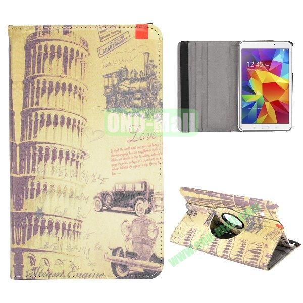 360 Degree Rotatable Leather Case for Samsung Galaxy Tab 4 8.0 T330 (The Leaning Tower of Pisa)