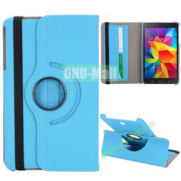360 Degree Rotation Cloth Texture Leather Cover for Samsung Galaxy Tab 4 8.0 T330 ( Baby Blue )