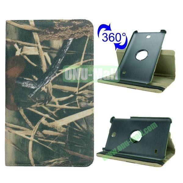 360 Rotating Retro Pattern Cloth Texture Case for Samsung Galaxy Tab 4 8.0 T330 with Belt (Tree Branch)