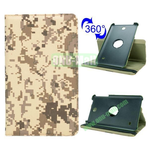 360 Rotating Retro Pattern Cloth Texture Case for Samsung Galaxy Tab 4 8.0 T330 with Belt (Mosaic Camouflage)