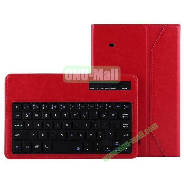 ABS Detachable Wireless Bluetooth 3.0 Keyboard Leather Case For Samsung Galaxy Tab 4 8.0 T330 (Red)