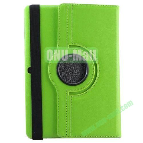 360 Rotating Pattern Litchi Texture Leather Case for Samsung Galaxy Tab Pro 10.1 T520 with Armband (Green)