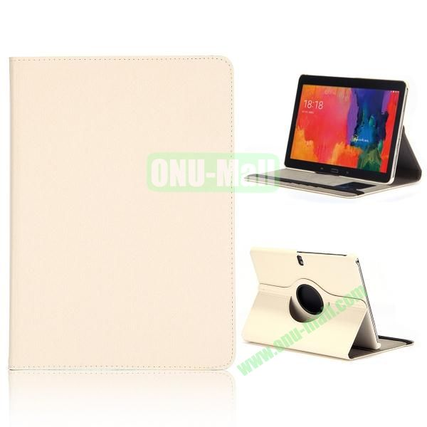 Cloth Texture 360 Degree Rotation Flip Leather Case for Samsung Galaxy Tab Pro 10.1 T520  ( White )