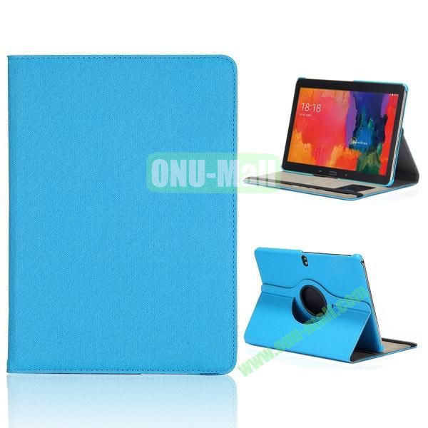 Cloth Texture 360 Degree Rotation Flip Leather Case for Samsung Galaxy Tab Pro 10.1 T520  ( Baby blue )