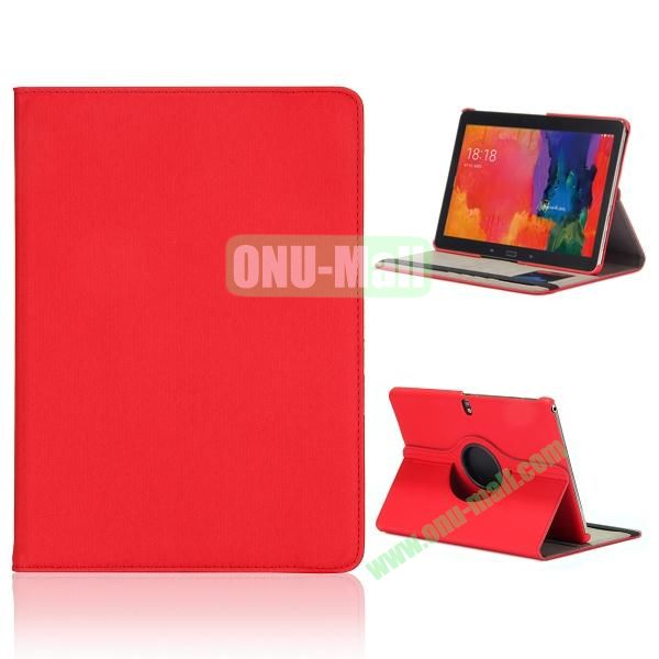 Cloth Texture 360 Degree Rotation Flip Leather Case for Samsung Galaxy Tab Pro 10.1 T520  ( Red )