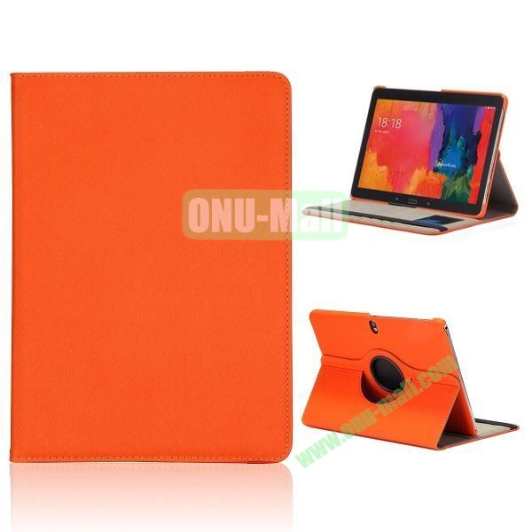Cloth Texture 360 Degree Rotation Flip Leather Case for Samsung Galaxy Tab Pro 10.1 T520  ( Orange )