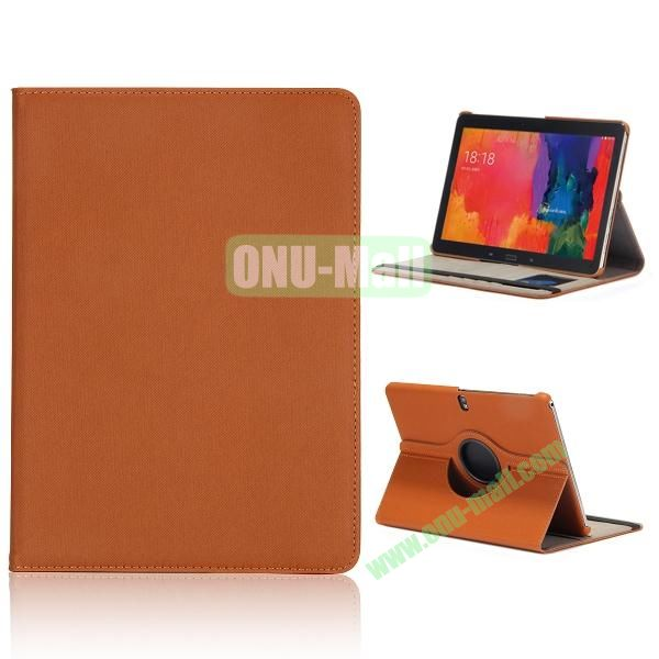 Cloth Texture 360 Degree Rotation Flip Leather Case for Samsung Galaxy Tab Pro 10.1 T520  ( Brown )
