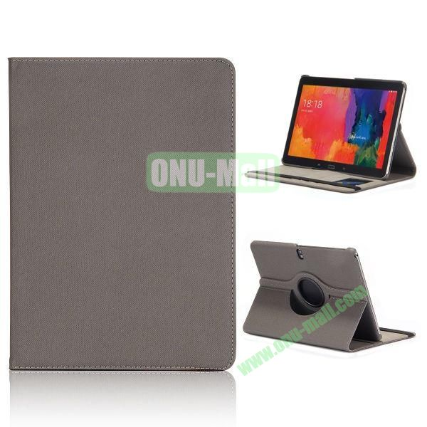 Cloth Texture 360 Degree Rotation Flip Leather Case for Samsung Galaxy Tab Pro 10.1 T520  (Grey)