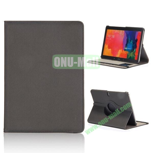 Cloth Texture 360 Degree Rotation Flip Leather Case for Samsung Galaxy Tab Pro 10.1 T520  (Black)