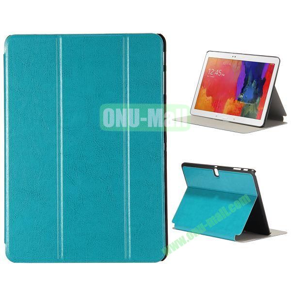 New Arrival 3-Folding Leather Stand Case for Samsung Galaxy Tab Pro 10.1  T520 (Lake Green)