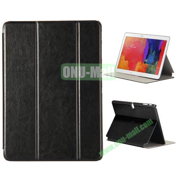 New Arrival 3-Folding Leather Stand Case for Samsung Galaxy Tab Pro 10.1  T520 (Black)