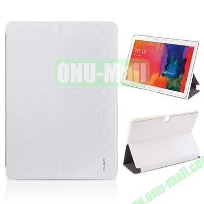 USAMS 3-Folding Leather Case for Samsung Galaxy Tab Pro 10.1T520 (White)