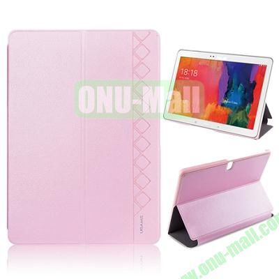 USAMS 3-Folding Leather Case for Samsung Galaxy Tab Pro 10.1T520 (Pink)