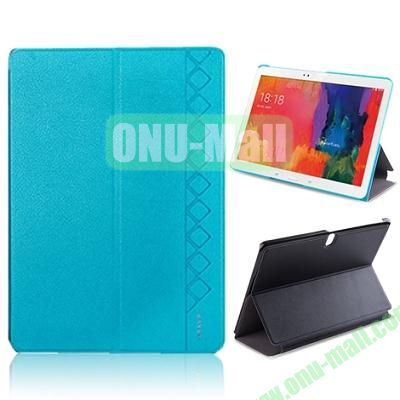 USAMS 3-Folding Leather Case for Samsung Galaxy Tab Pro 10.1T520 (Blue)