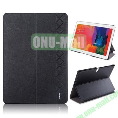 USAMS 3-Folding Leather Case for Samsung Galaxy Tab Pro 10.1T520 (Black)