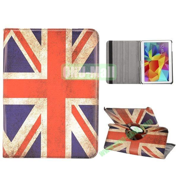 360 Degree Rotatable Leather Case for Samsung Galaxy Tab 4 10.1 T530 (UK Flag Pattern)