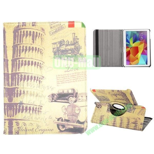 360 Degree Rotatable Leather Case for Samsung Galaxy Tab 4 10.1 T530 (The Leaning Tower of Pisa)