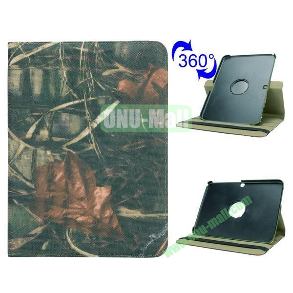 Retro Pattern 360 Rotating Flip Leather Case for Samsung Galaxy Tab 4 10.1 T530 (Withered Leaves)