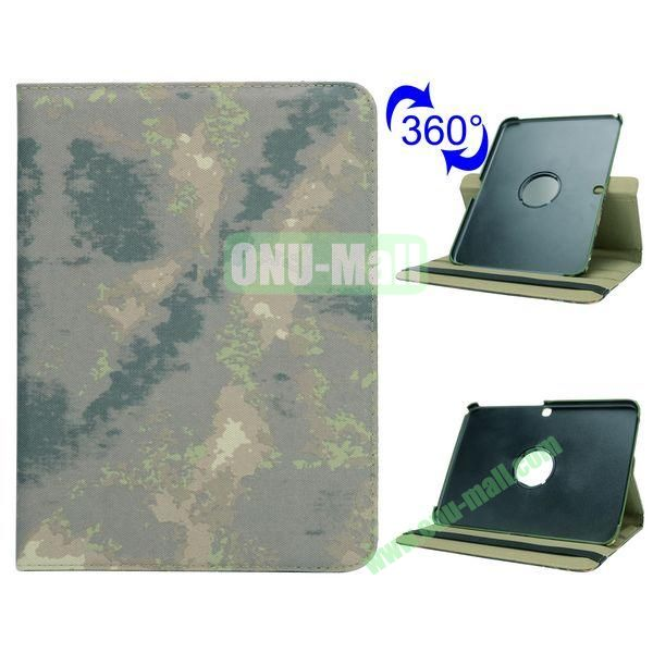 Retro Pattern 360 Rotating Flip Leather Case for Samsung Galaxy Tab 4 10.1 T530 (Grey Camouflage)