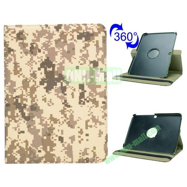 Retro Pattern 360 Rotating Flip Leather Case for Samsung Galaxy Tab 4 10.1 T530 (Mosaic Camouflage)