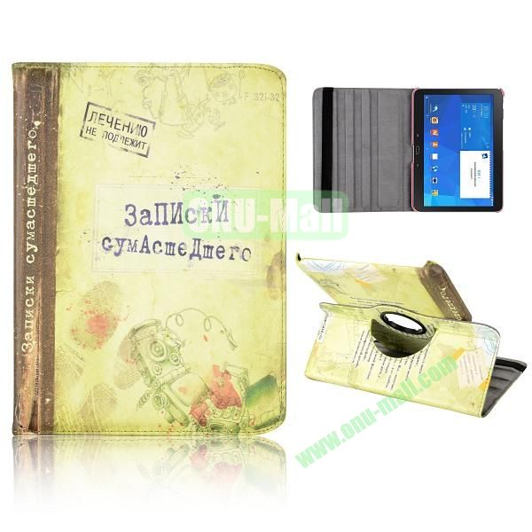 360 Degree Rotatable Leather Case for Samsung Galaxy Tab 4 10.1 T530 (Fingerprint Pattern)